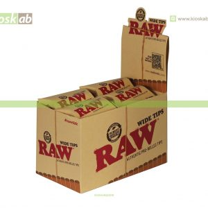 Raw Tips Wide Pre-Rolled (20)