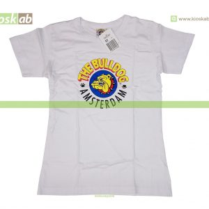 The Bulldog Amsterdam T-Shirt Original White Ladies Small