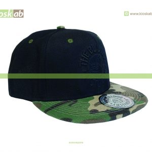 The Bulldog Amsterdam Original Cap Black Logo Army Half