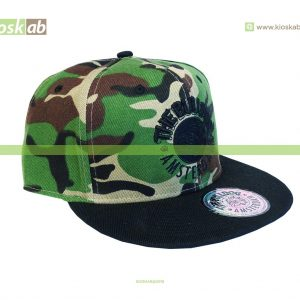The Bulldog Amsterdam Original Cap Black Logo Army Full