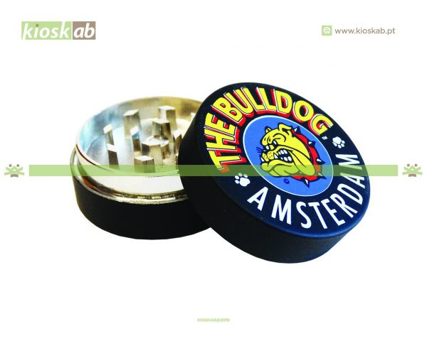 The Bulldog Amsterdam Grinder Metálico Black 2 Parts
