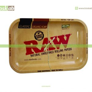 Raw Metal Rolling Tray Small