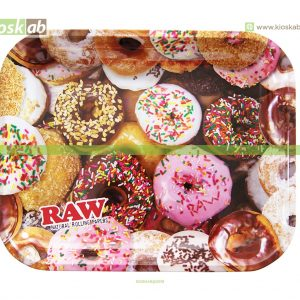 Raw Metal Rolling Tray Donuts