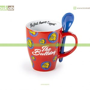 The Bulldog Amsterdam Spoon Mug Red