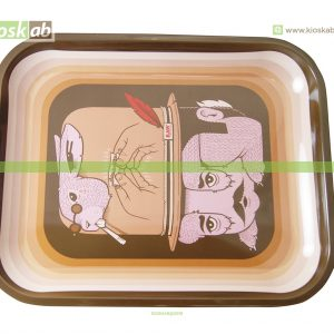 Raw Metal Rolling Tray Fish