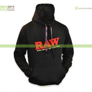 Raw Hoodie Black S - Poker Laces