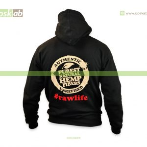 Raw Hoodie Black M - Poker Laces