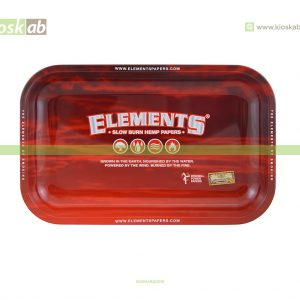 Elements Red Metal Rolling Tray Small