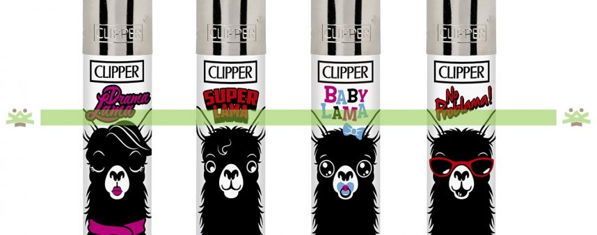 Clipper Large Decorado Animals Lama - 243