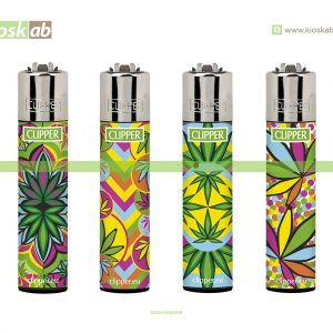 Clipper Large Decorado Fluo Leaves 2 - 244