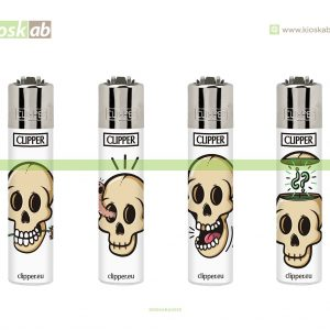 Clipper Micro Decorado White Skulls