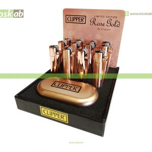 Clipper Isqueiro Micro Metal Rose Gold (12)
