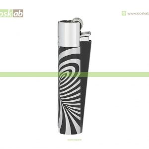 Clipper Large Metal Psychadelic Silver
