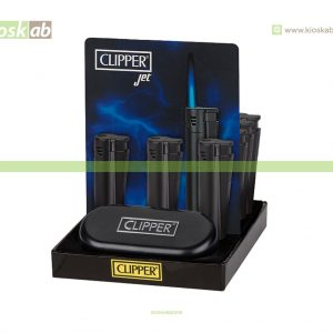 Clipper Large Metal Jet Flame Electronic Matt Black