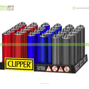 Clipper Isqueiro Micro Fundas Mix Metal Colors