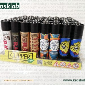 Clipper Large Decorado The Bulldog + Raw Assorted #1
