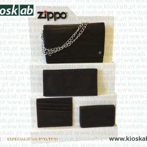 Zippo Expositor Leather Goods Metal