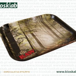 Raw Metal Rolling Tray Forest Small
