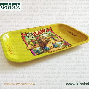 Raw Metal Rolling Tray Brazil 2nd Edition - Small