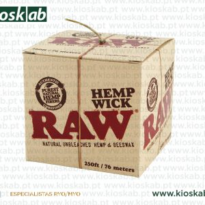 Raw Hemp Wick - 76mt