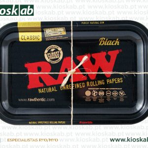 Raw Black Metal Rolling Tray Small