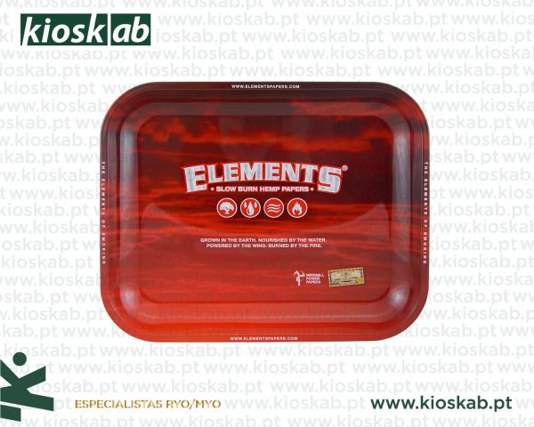 Elements Red Metal Rolling Tray