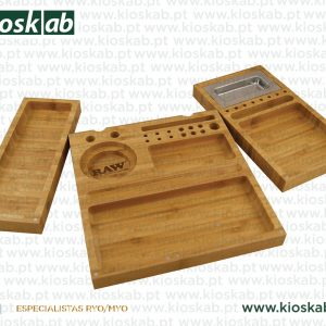 Raw Bamboo Triple Flip Rolling Tray