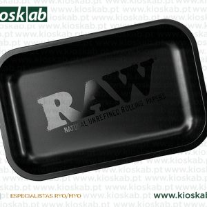 Raw Black Matte Metal Rolling Tray