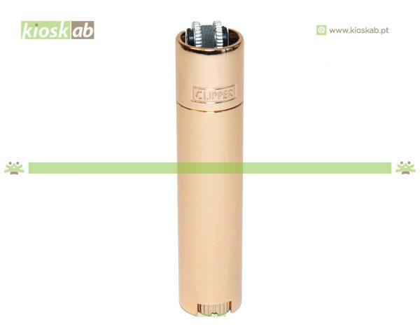 Clipper Isqueiro Large Metal Rose Gold Brilho