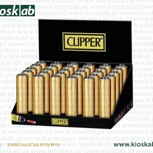 Clipper Isqueiro Micro Fundas Metal Gold Mat + Shiny (30)