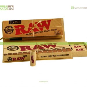 Raw 1 1/4 + Pre Rolled Tips  (24)