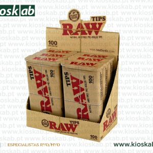 Raw Metal Box + 100 Tips Perolled (6)