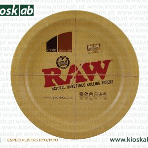 Raw Metal Round Rolling Tray