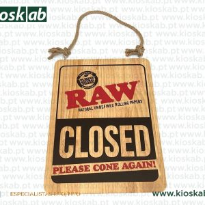 Raw Door Sign - Cone In