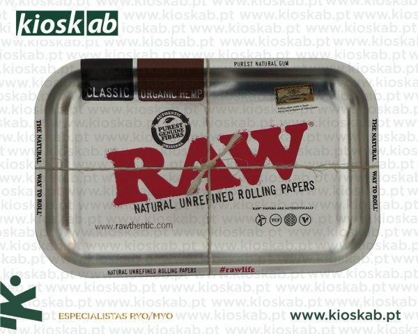 Raw Metal Rolling Tray Steel Small