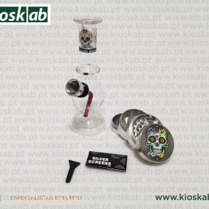 Ragga Box Set Small Glass Bong + Grinder II