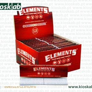 Elements Red King Size Slim + Tips (24)