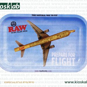 Raw Metal Rolling Tray Flying Small