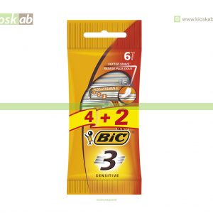 Lâminas Barbear Bic 3 Sensitive