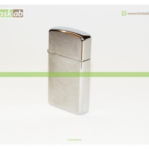 Zippo Slim Brushed Finish Chrome
